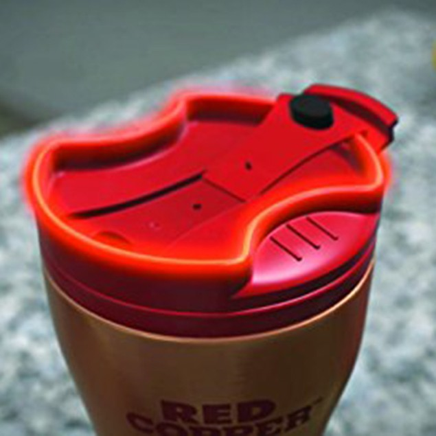 2-Pack Red Copper-Ceramic-Lined Double-Insulated Hot/Cold Mug