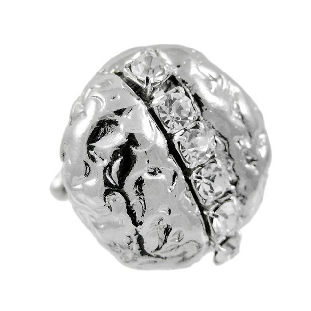 Stainless Steel Nugget Style Cz Accented Cuff Mens Cuff Links