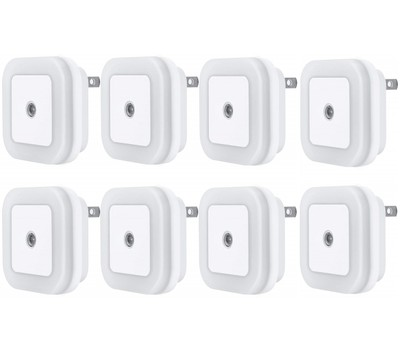 8-Pack LED Plug-in Night Light Was: $39.99 Now: $12.99.