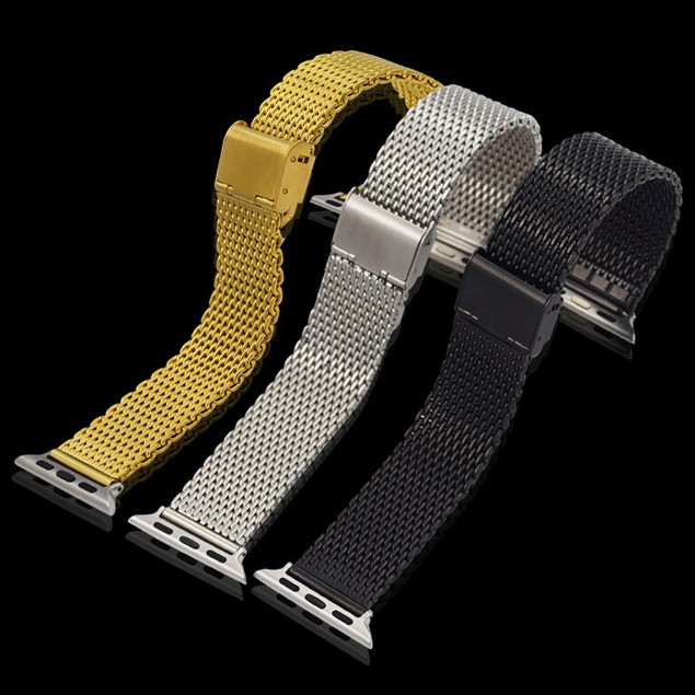 iPM Stainless Steel Mesh Milanese Loop Band for Apple Watch