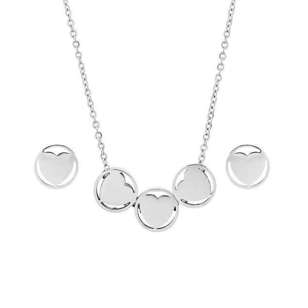Stainless Steel Heart Shaped Set