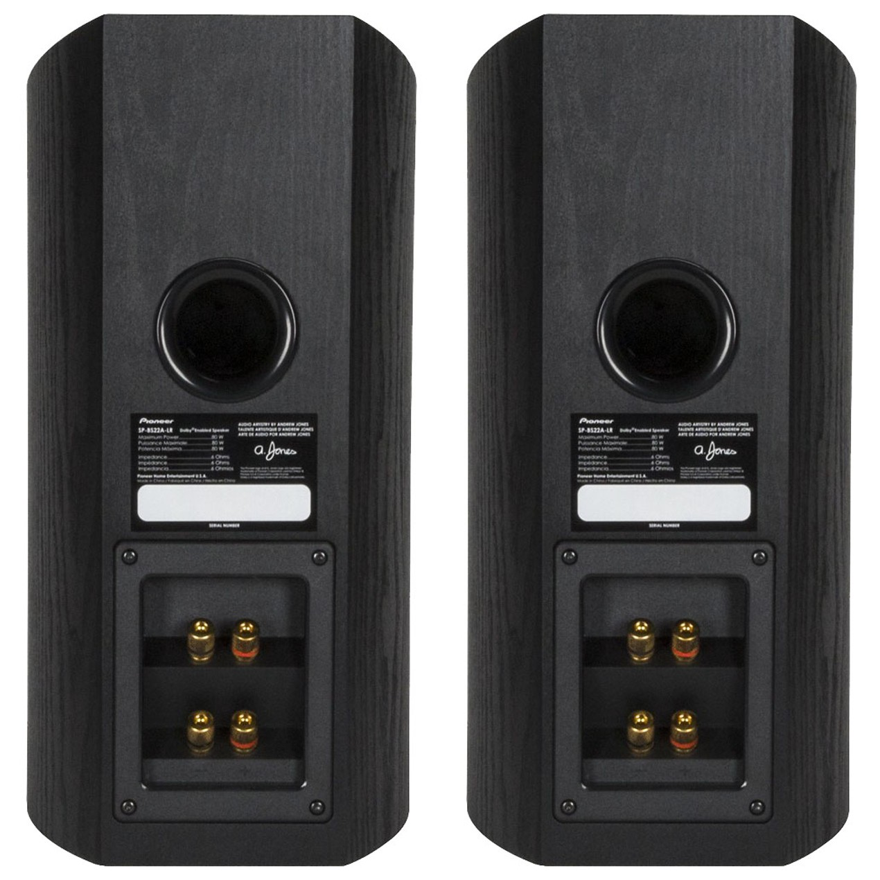 Pioneer Dolby Atmos Enabled Bookshelf Speakers SP BS22A LR Pair
