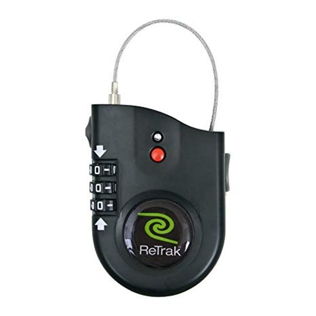 ReTrak Retractable Cable Lock with Alarm