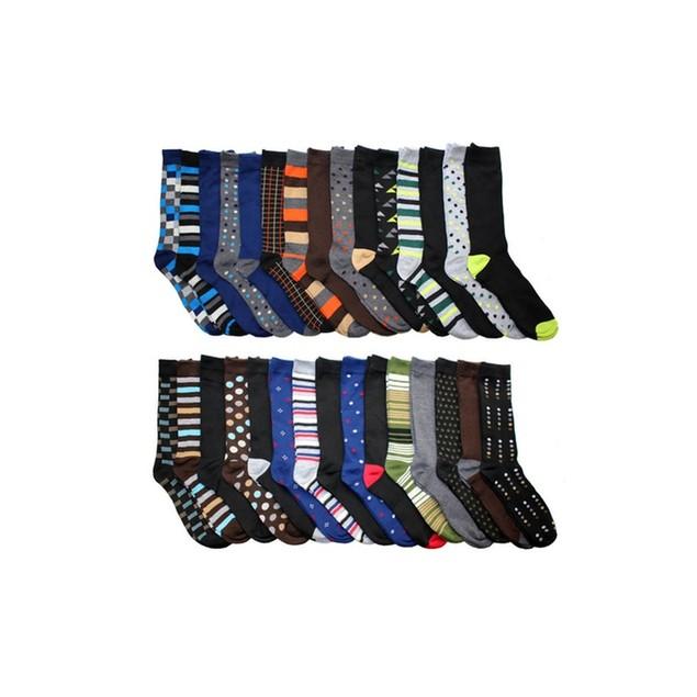 Mystery Deal: 30-Pack John Weitz Men's Dress Socks