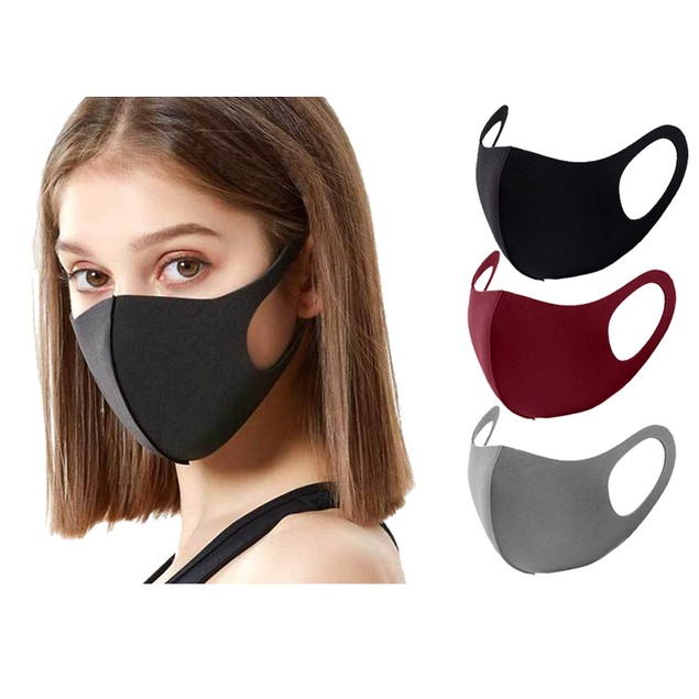 (3 or 5-Pack) Reusable Washable Non-Medical Face Masks