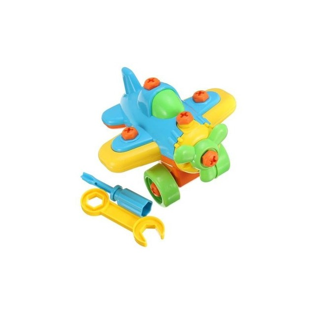 Educational Take Apart Toy Race Car and Plane (4-piece set)