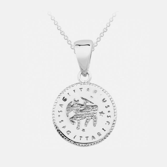 Inspired Sterling Silver Zodiac Pendant - Sagittarius