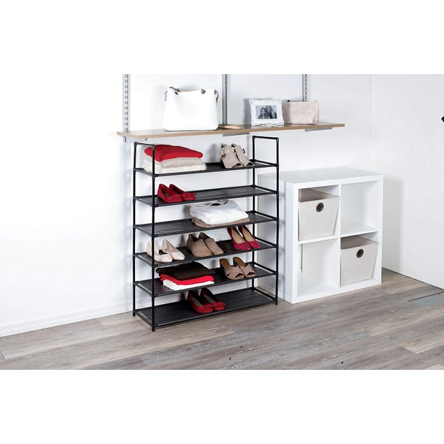 6-Tier Space Saving Shoe Rack - Fits 30 Pairs