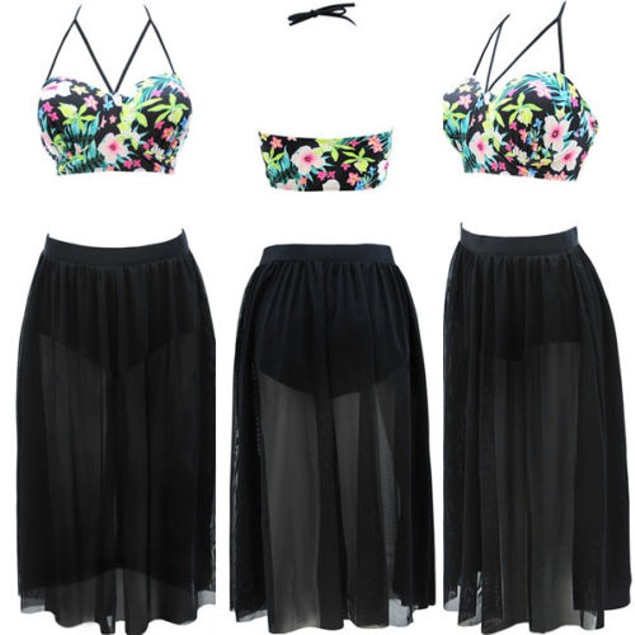 Plus Size Skirt Swimsuit