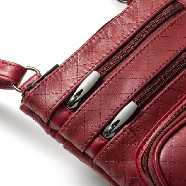 Super Soft Leather/Quilted Crossbody Bag - 5 Colors