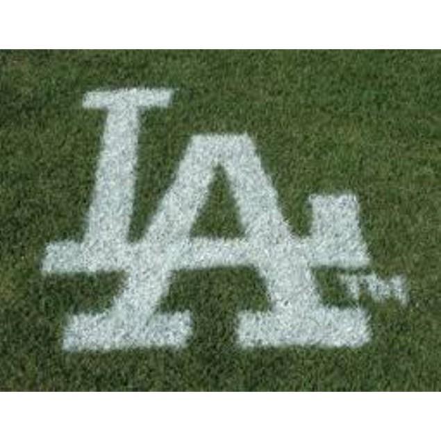 Mlb Los Angeles Dodgers Lawn Logo Paint Stencil Sports Fan Stepping Stones