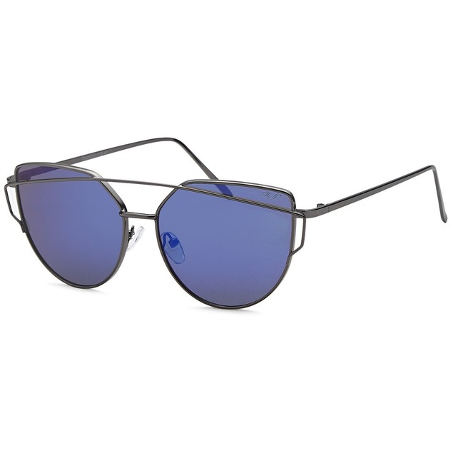 Double Bridge Inspired Blue lenss  Women Sunglasses
