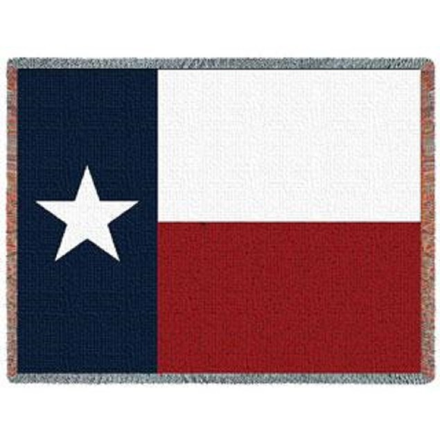 Texas State Flag Woven Jacquard Throw Blanket Throw Blankets