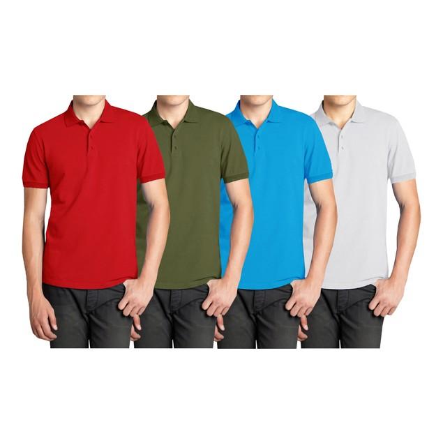 4-Pack Men's Comfort Poly-Tech Pique Polo Shirt