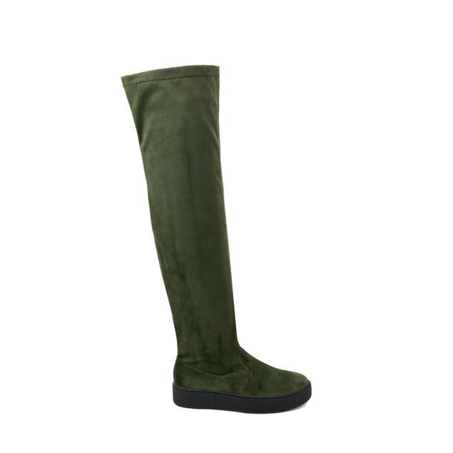 Olivia Miller 'Lynbrook' Sneaker Bottom Velvet Over the Knee Boots