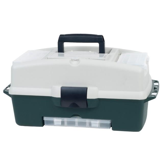 Wakeman Fishing 2-Tray Tackle Box 3 Removable Organizers - 18 inch