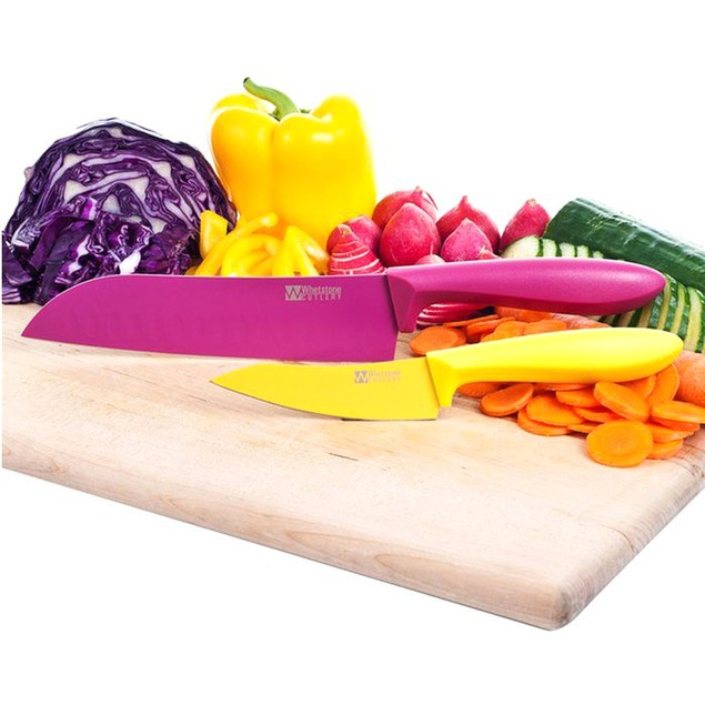 Whetstone 2 Piece Kitchen Knife Set - Paring and Santoku