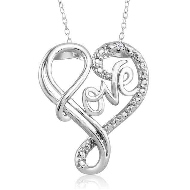 .10 Ct Diamond Accent Heart Necklace - Fancy Love