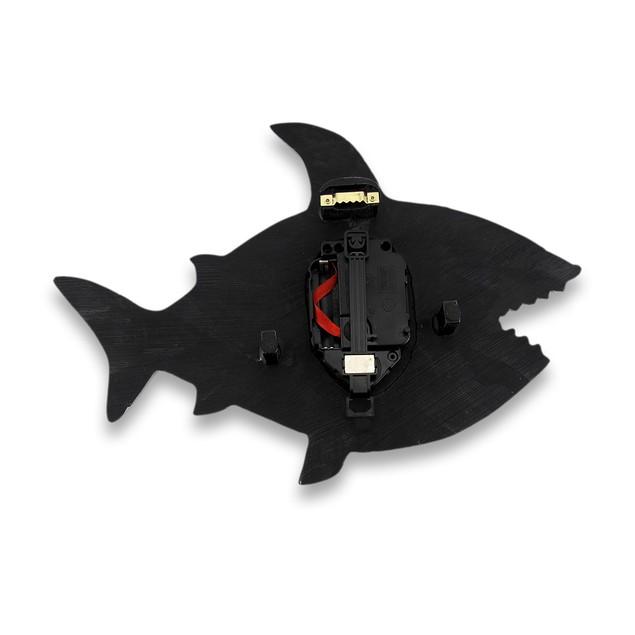 Allen Designs Surf At Risk Shark Wall Clock With Wall Clocks