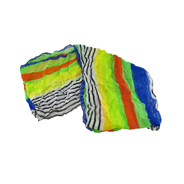 Brightly Colored Striped Lightweight Ring Scarf Womens Fashion Scarves