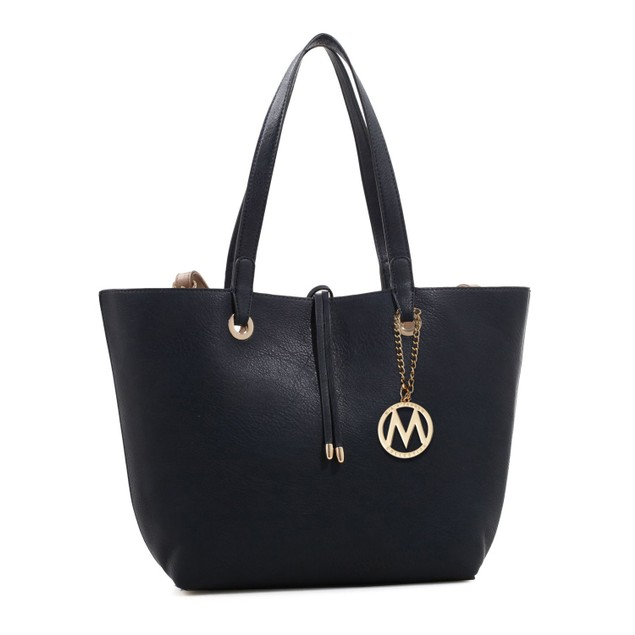 MKF Collection Kent Tote Bag with Inside Contrast Colored Pouch