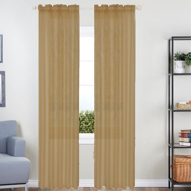 2-Pack Linda Sheer Voile Curtain Panels