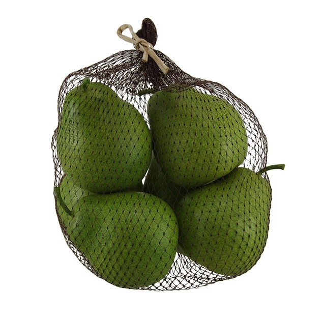 Artificial Green Pears Decorative Faux Fruit Set Decorative Fruit And Balls