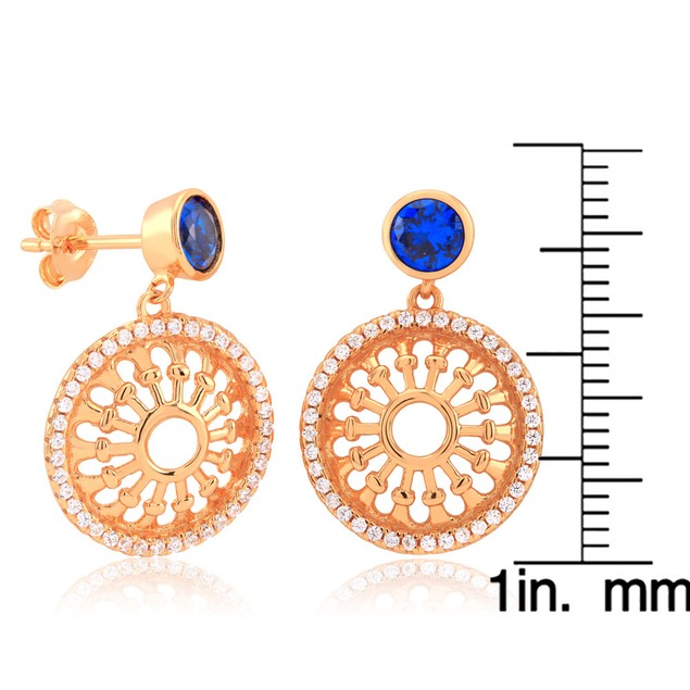 Gold Plated Sterling Silver Filigree Earrings