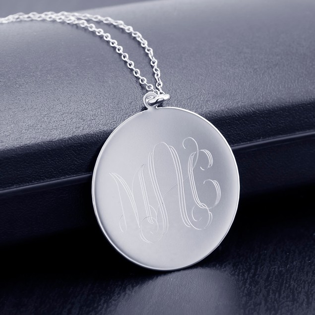 Personalized Round Disc Necklace