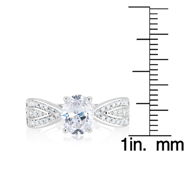 18kt White Gold Wide Engagement Ring