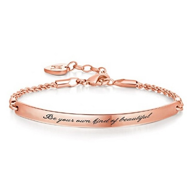 """Be Your Own Kind Of Beautiful"" Rose Bracelet"