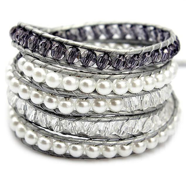 Misty Purple Wrap Bracelet