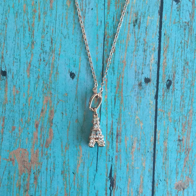 Rose Gold Plated From Paris Love Necklace