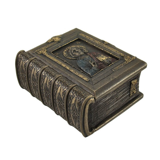 Christ Pantocrator Book Shaped Trinket Box Decorative Boxes