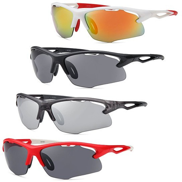 AFONiE 4-Pack Men's Sports Sunglasses (2 Styles)