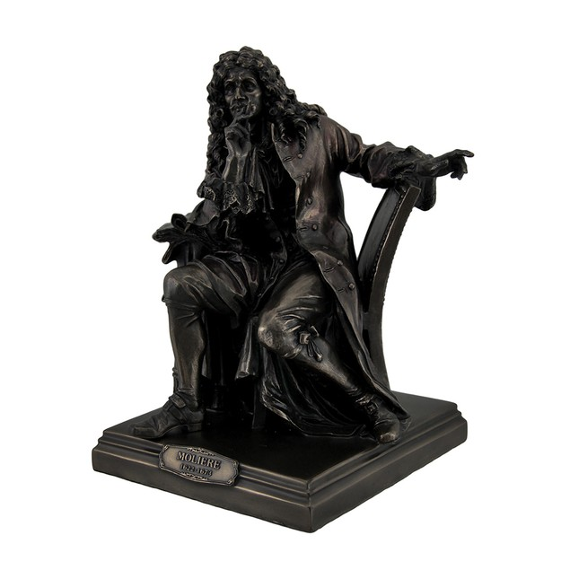 Bronze Finish Moliere Master Of Comedy Actor Statues