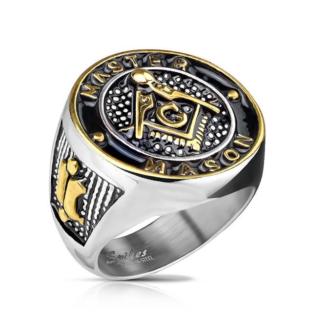 Men's Stainless Steel Master Mason Ring