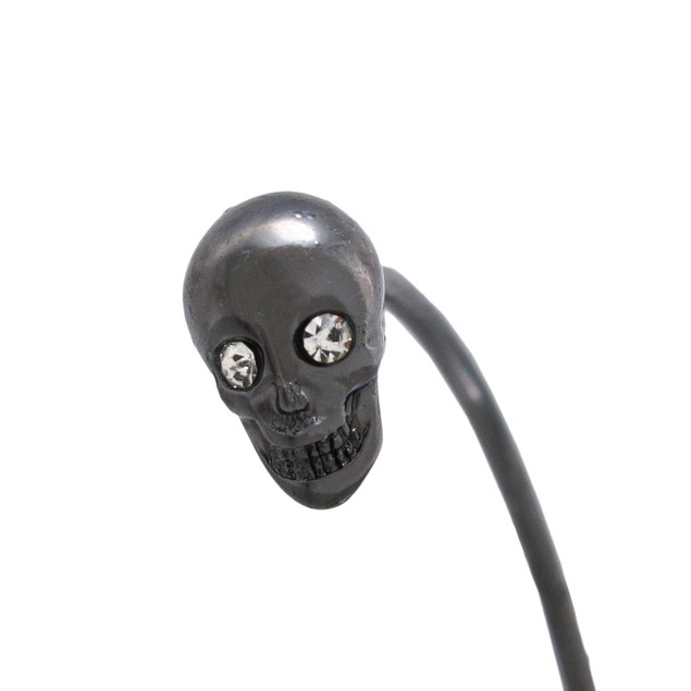 Gunmetal Finish 3D Skull Torc Bracelet Cuff Mens Cuff Bracelets