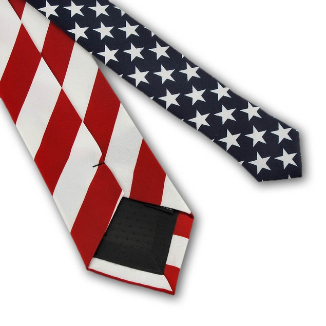U.S. American Flag Necktie Usa Mens Neckties