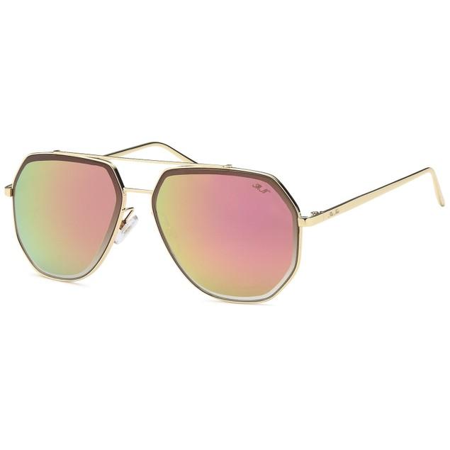 Hexagonal Inspired Pink Sunglasses