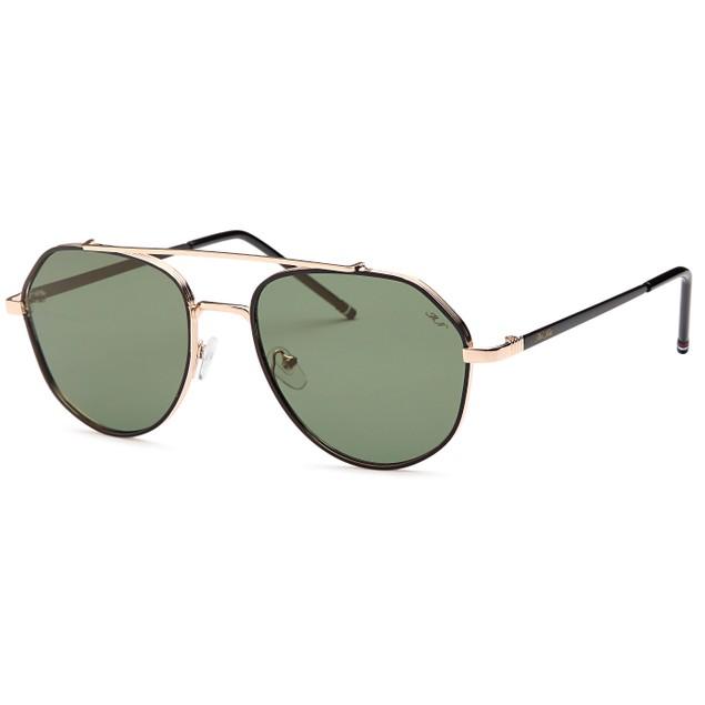 Double Bridge Inspired Black Fashion Sunglasses