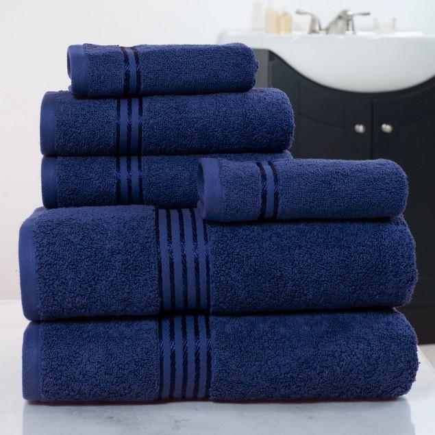 Lavish Home 6-Piece 100% Cotton Hotel Towel Set