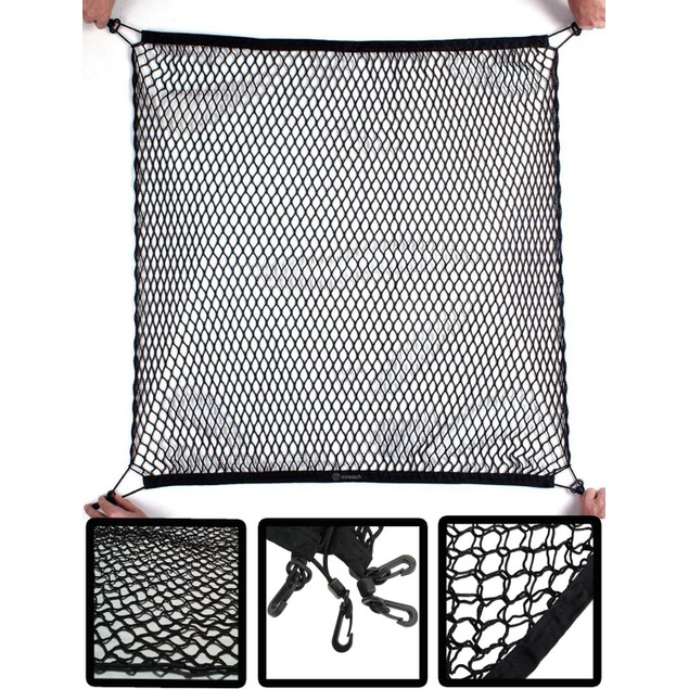 Zone Tech 4 Hook Vehicle Trunk Mesh Cargo Storage Organizer