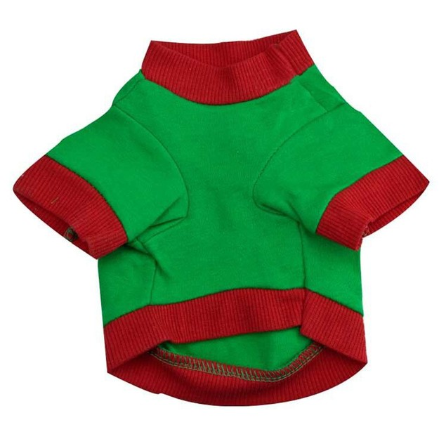 Christmas Pet Dog Puppy Clothes Cotton Double Color Letter Shirt Clothes