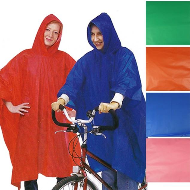 3-Pack Adult Rain Ponchos w/Hood
