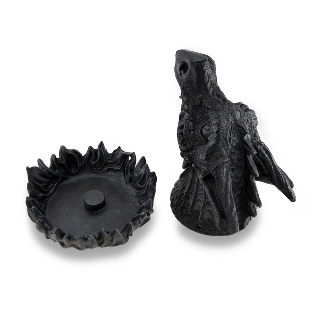 Cast Iron Finish Sculpted Dragon Incense Burner Incense Holders