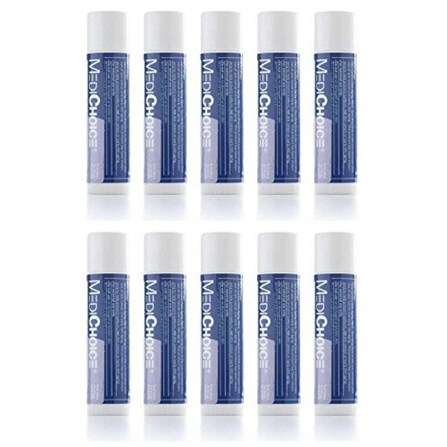 10-Pack MediChoice Lip Balm Moisturizer Nourish & Hydrate 0.15oz