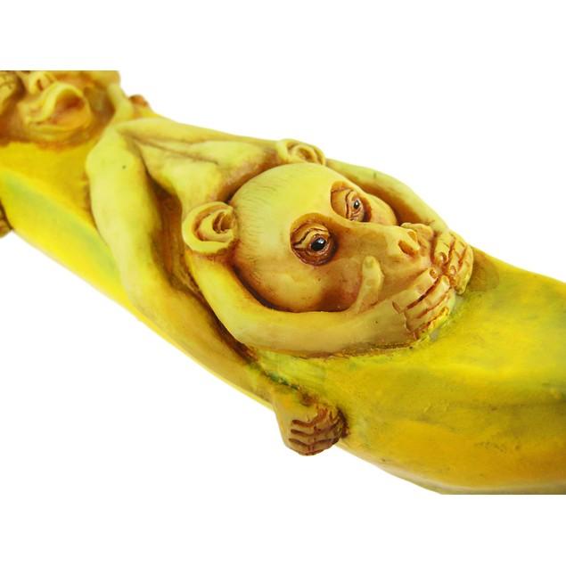 No Evil Monkeys Banana Stick Incense Burner Holder Incense Holders