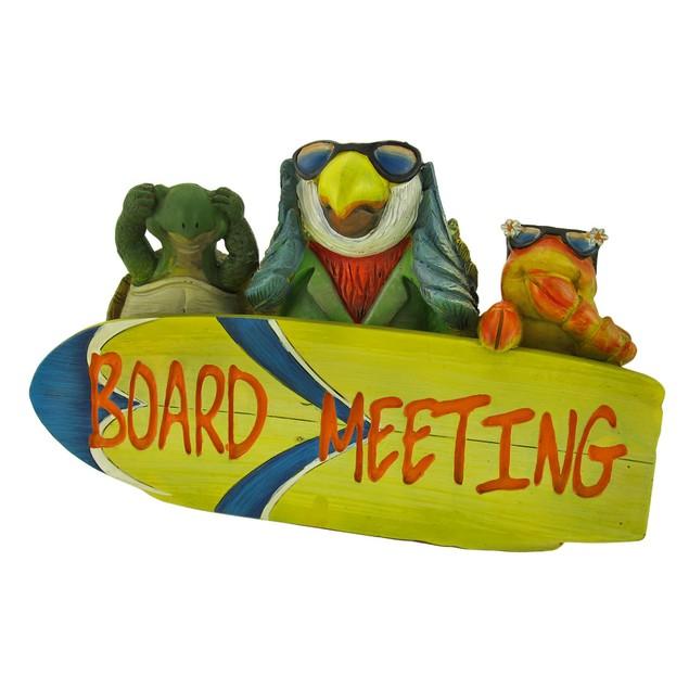 Tropical Paradise `Board Meeting` Plaque Decorative Plaques