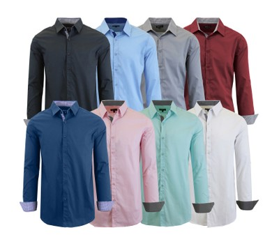 Mens Long Sleeve Solid Dress Shirt Was: $48 Now: $14.99.